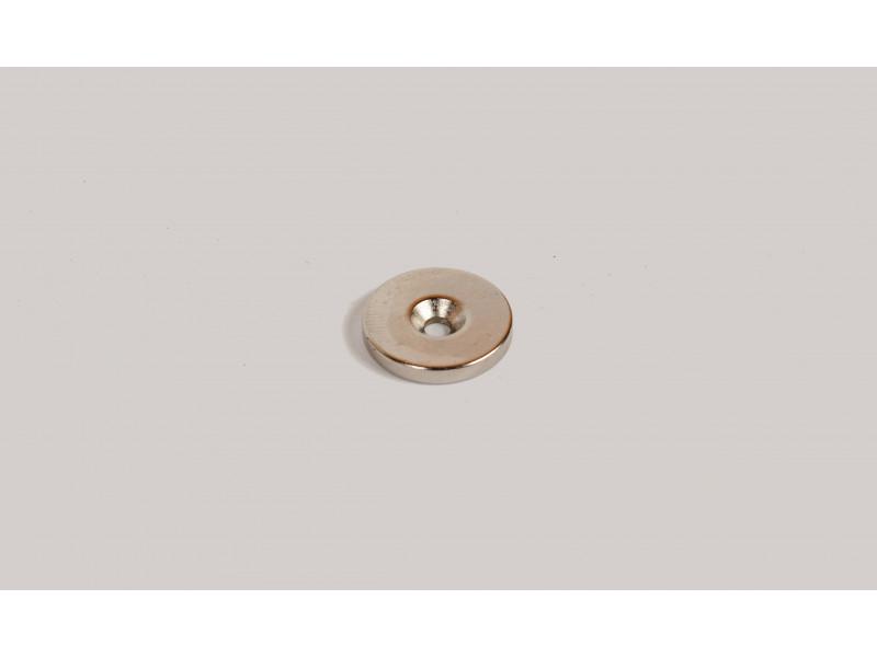 Неодимовый магнит кольцо 20x3мм с зенковкой 3.5/7мм