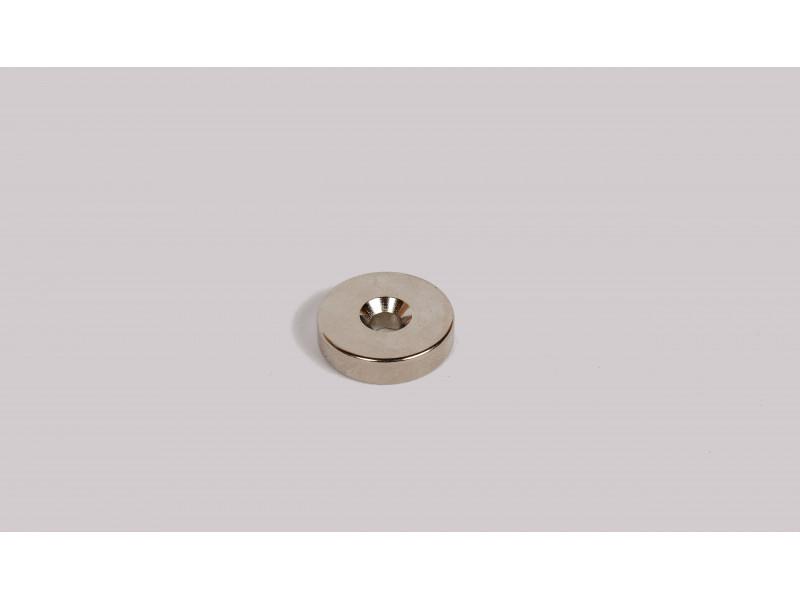Неодимовий магніт кільце 20x5мм з зенковкой 3.5/7мм