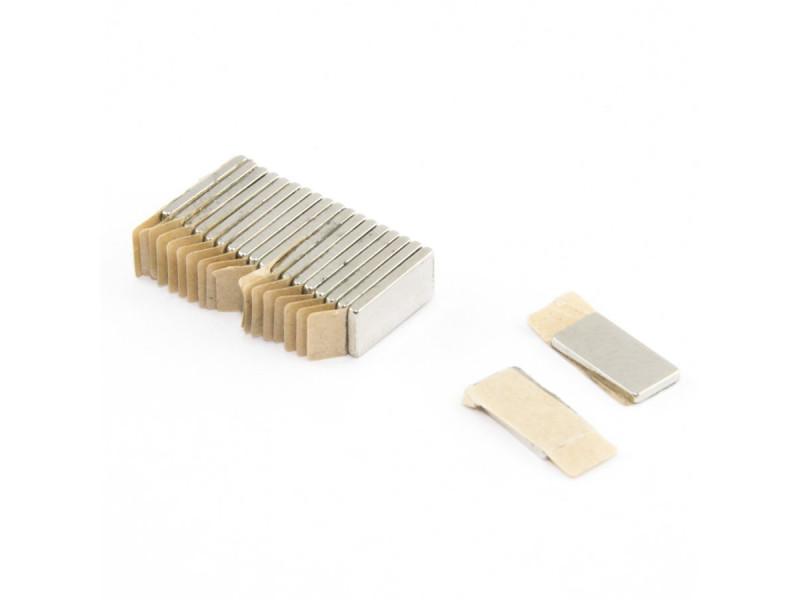 Неодимовый магнит прямоугольник с самоклейкой 10х5х1 мм