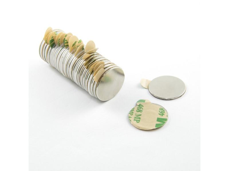 Неодимовий магніт шайба з самоклейкой 20х1 мм