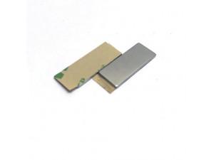 Неодимовий магніт прямокутник з самоклейкой 25х10х1 мм