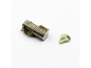 Неодимовий магніт шайба з самоклейкой 8х1 мм