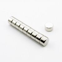 Неодимовый магнит малый диск (шайба) 10х6мм
