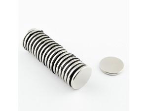 Неодимовый магнит малый диск (шайба) 17х2мм