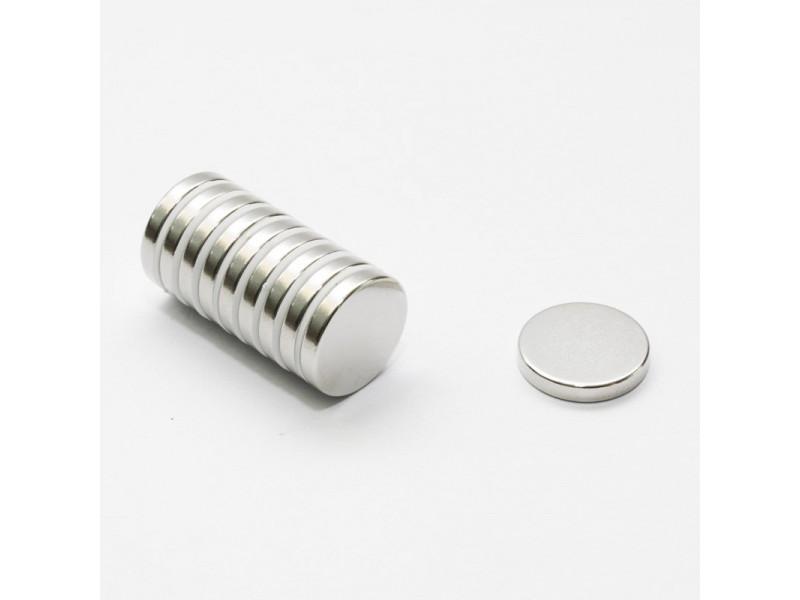 Неодимовый магнит малый диск (шайба) 18х3мм