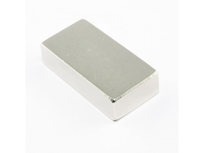 Неодимовый магнит прямоугольник 40х20х10мм