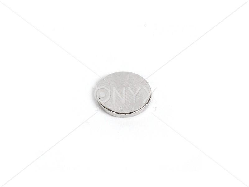 Неодимовый магнит малый диск (шайба) 12x1мм