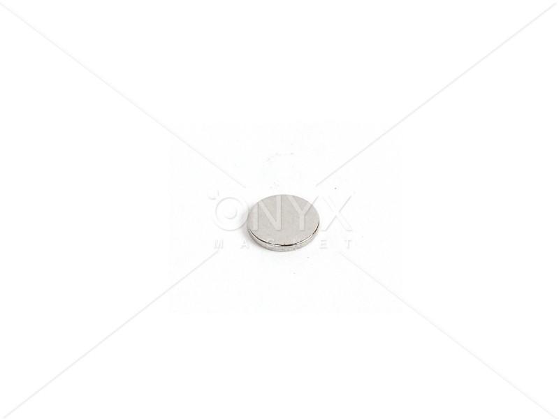 Неодимовый магнит малый диск (шайба) 7x1.5мм
