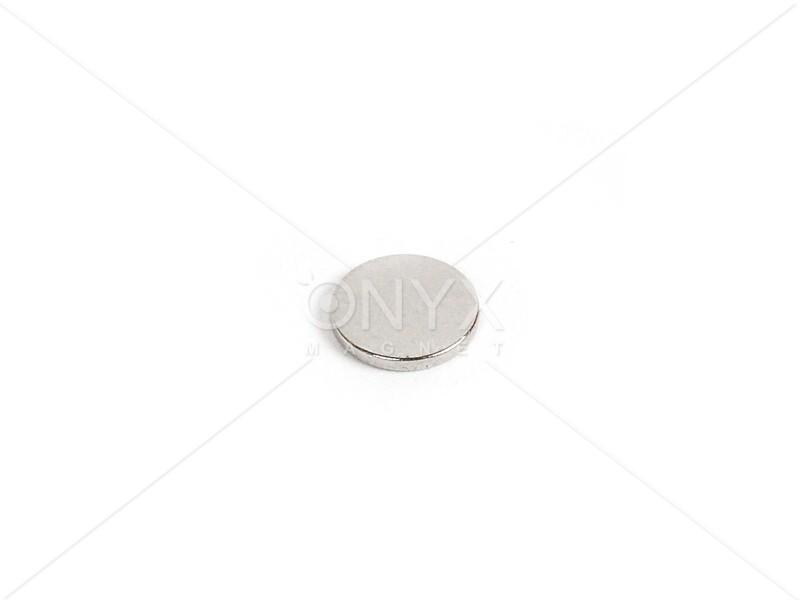 Неодимовый магнит малый диск (шайба) 9x1.5мм