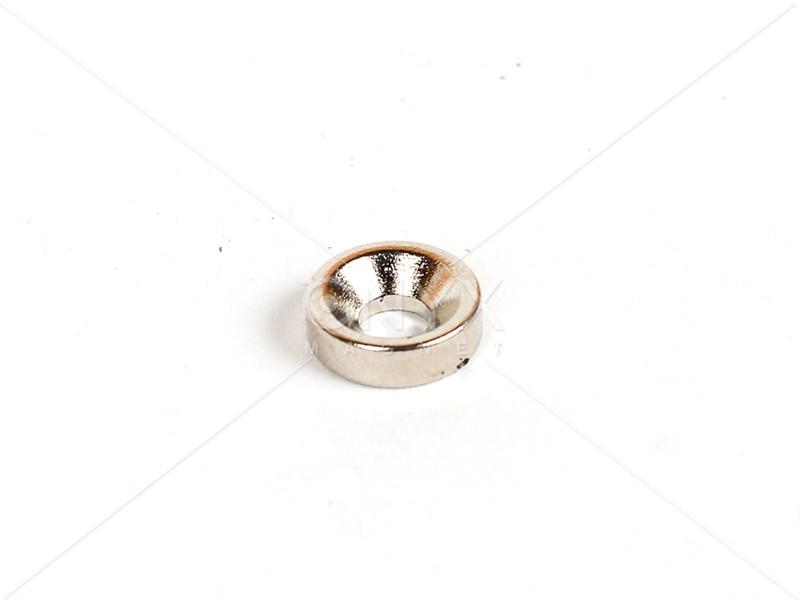 Неодимовий магніт кільце 10х3мм з зенковкой 4/7.5мм