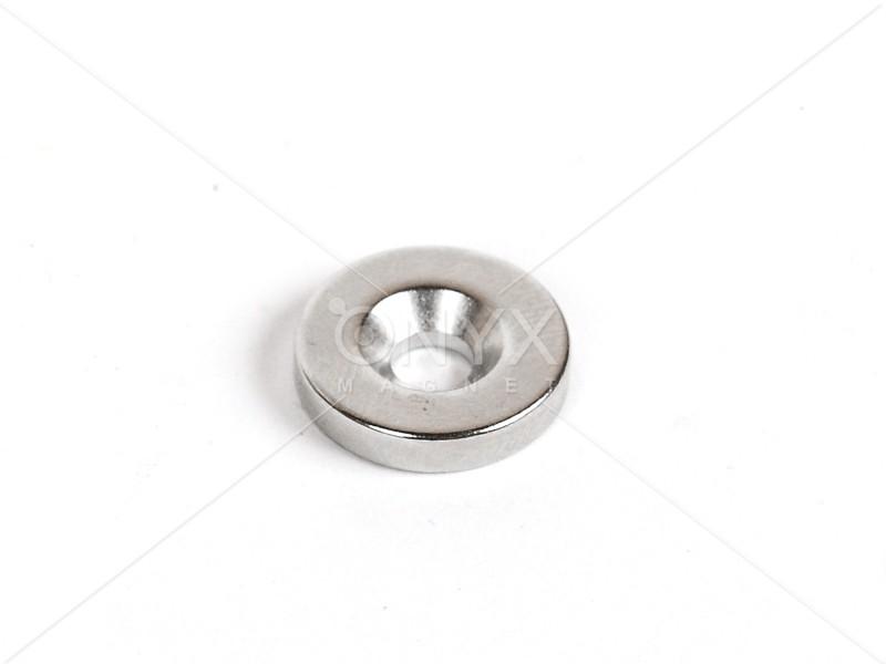 Неодимовий магніт кільце 15x5мм з зенковкой 4.5/10мм