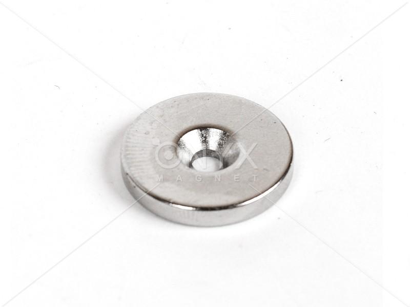 Неодимовый магнит кольцо 20x3мм с зенковкой 4.5/7.5мм