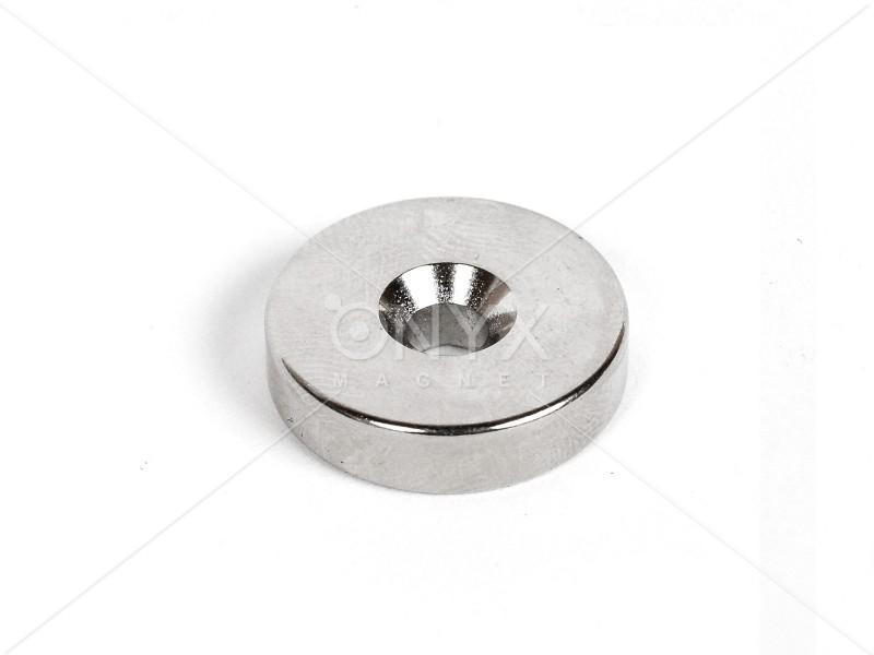 Неодимовый магнит кольцо 20x5мм с зенковкой 4.5/10мм