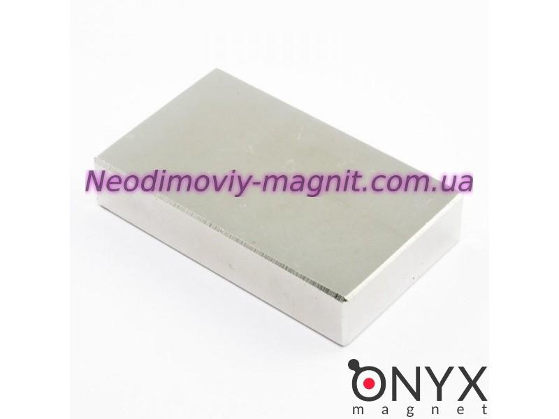 Неодимовий магніт прямокутник 50х30х10мм