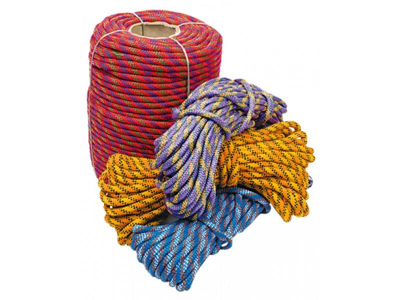 Фал кольоровий плетений (12мм.100м.)